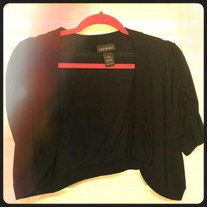 Lane Bryant cardigan crop black